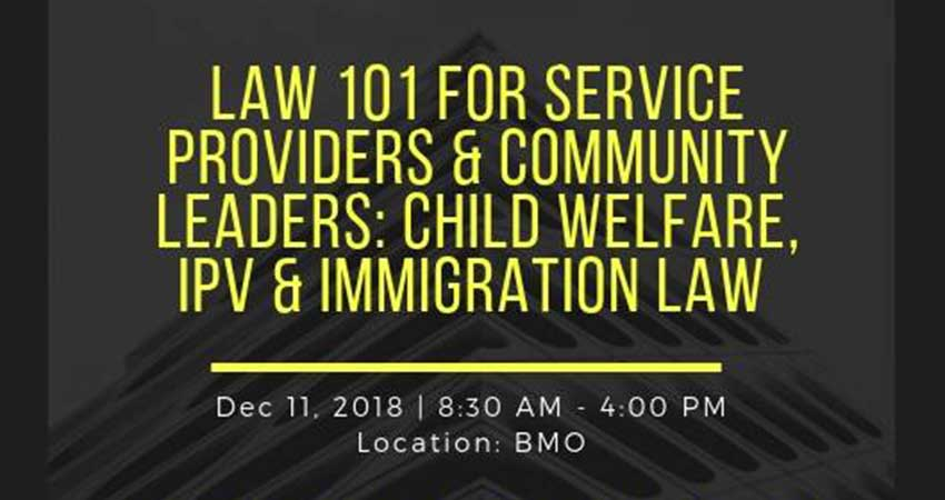 Muslim Resource Centre for Social Support and Integration - mrcssi Law 101 for Service Providers: Child Welfare, IPV & Immigration