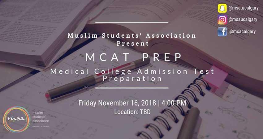 Muslim Students' Association at the University of Calgary MCAT Preparation