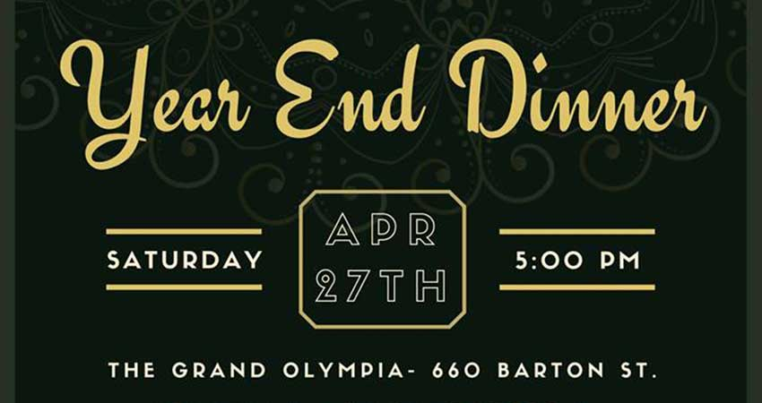 McMaster MSA Year End Dinner 2019