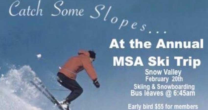 Brock University MSA Annual MSA Ski Trip