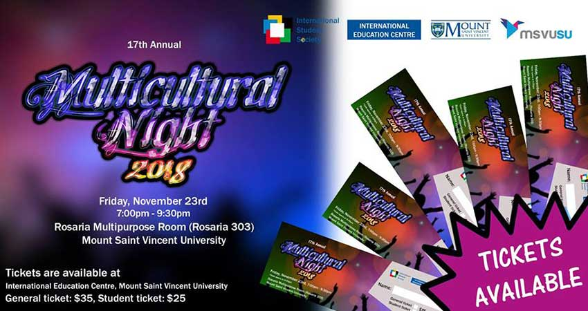 Mount Saint Vincent University International Student Society Annual Multicultural Night