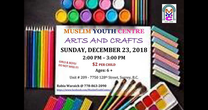 Muslim Youth Centre Kids Arts and Crafts