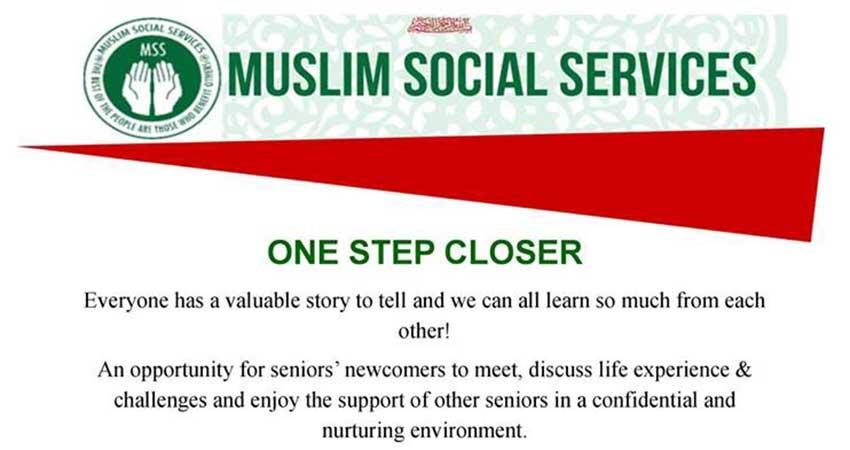 Muslim Social Services of Kitchener Waterloo One Step Closer Program for Newcomer Seniors Starts Jan 18