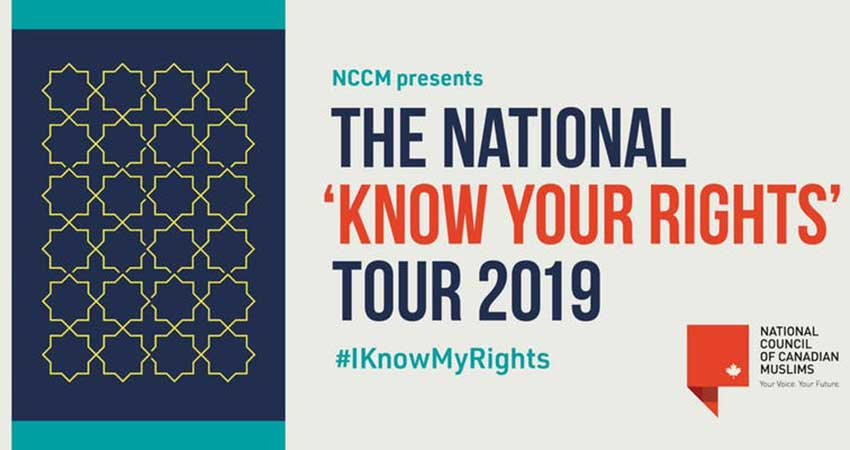 National Council of Canadian Muslims (NCCM) Know Your Rights Workshop - London