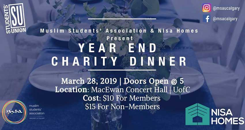Nisa Homes MSA Calgary Year End Charity Dinner