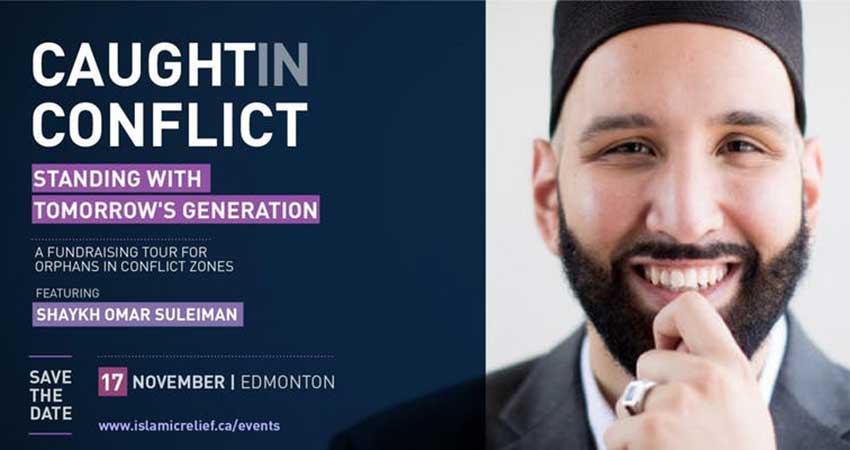 Islamic Relief Canada Fundraising Dinner for Orphans with Sh. Omar Suleiman · Edmonton