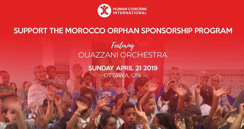 Human Concern International Fundraising Dinner for Orphans in Morocco with The Ouazzani Orchestra