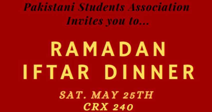 Pakistani Students Association Annual Ramadan Iftar Dinner