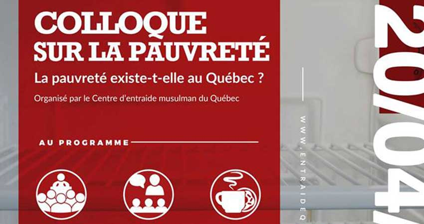 Le Centre d'Entraide Musulman du Québec Colloque sur la pauvreté