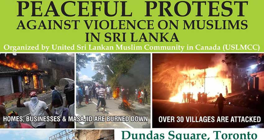 Peaceful Protest Against Violence on Muslims in Sri Lanka