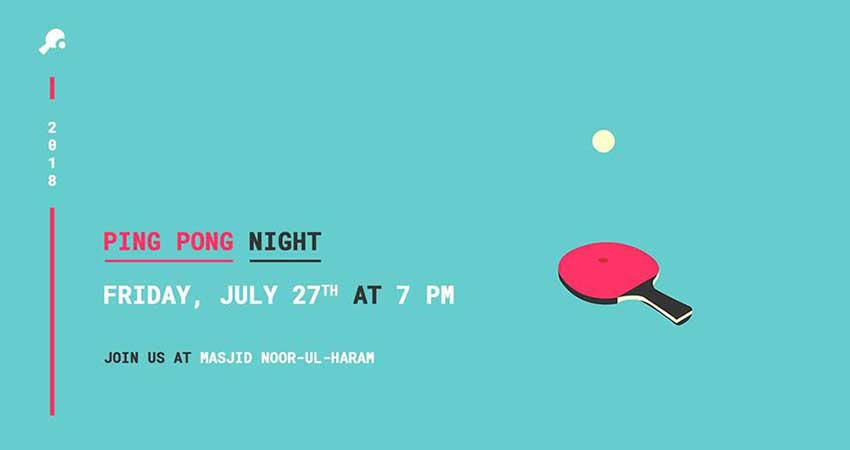 World Islamic Mission Youth Circle Canada Ping Pong Night