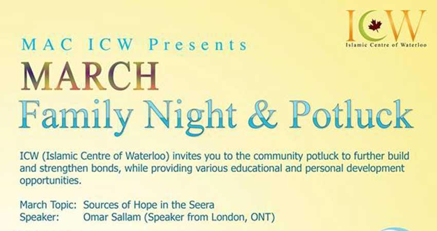 Islamic Centre of Waterloo Family Night & Potluck