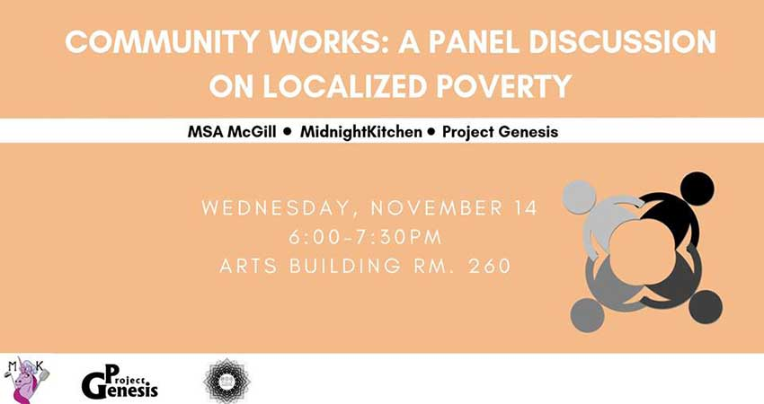 MSA McGill Community Works: Panel Discussion on Localized Poverty