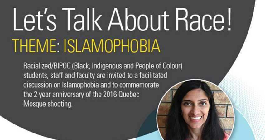 Let's Talk About Race! Theme: Islamophobia