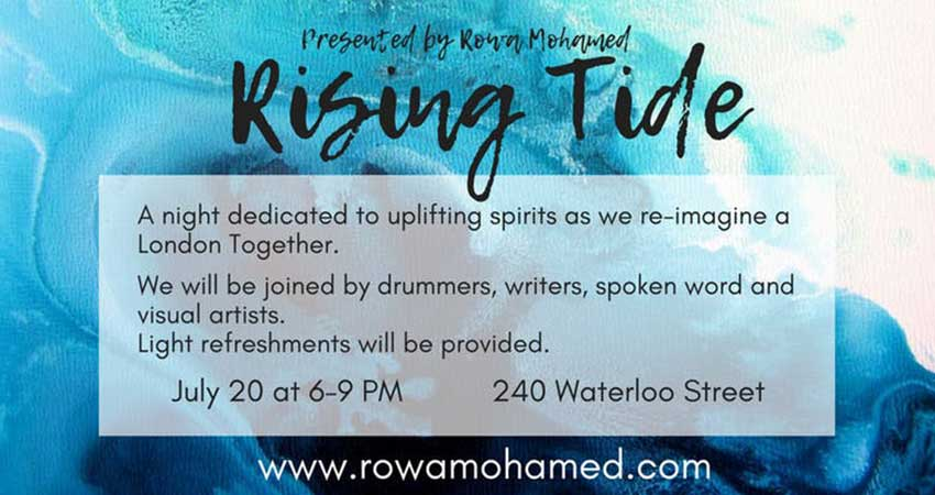 Rowa Mohamed For Ward 12 Rising Tide: Imagining a London Together