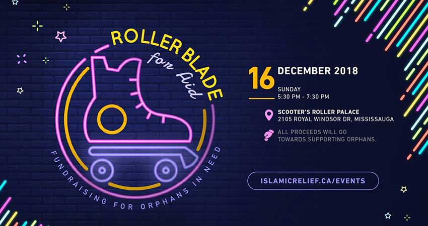 Islamic Relief Canada Rollerblade for Aid - Fundraising for Orphans