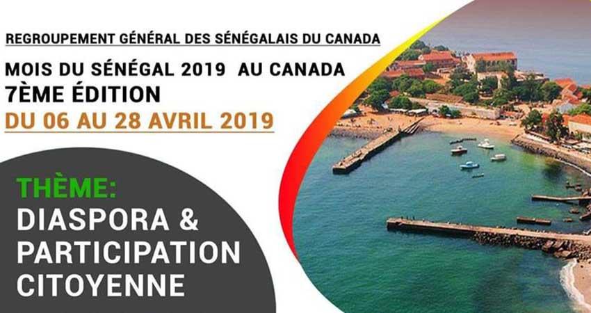 Regroupement Général des Sénégalais du Canada Journée Thiossane