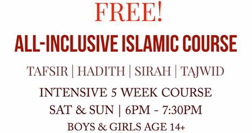 Intensive Islamic Course Starts July 28