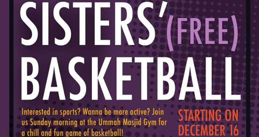 Ummah Masjid And Community Center Basketball Program for Young Ladies