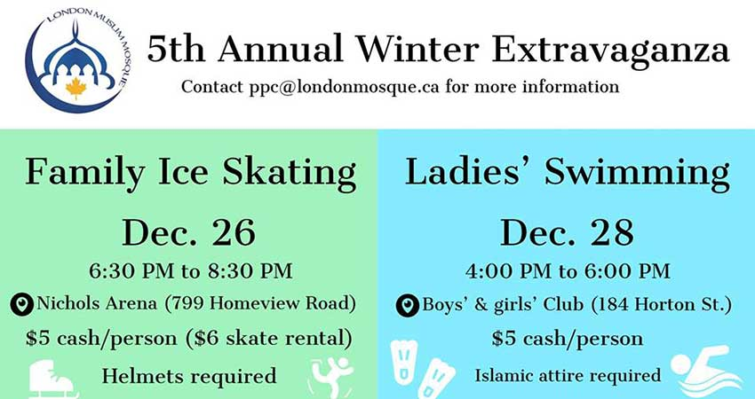London Muslim Mosque Family Ice Skating