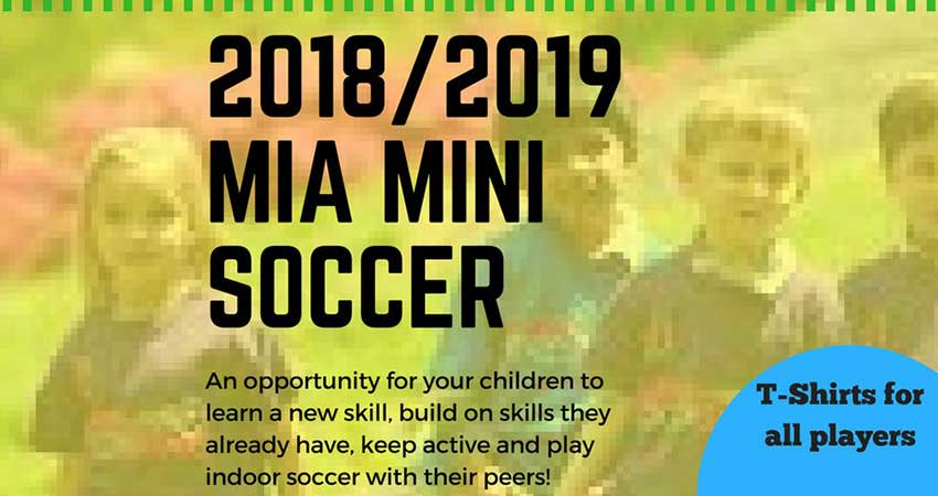 Manitoba Islamic Association Mini Soccer Registration Ages 5 to 10