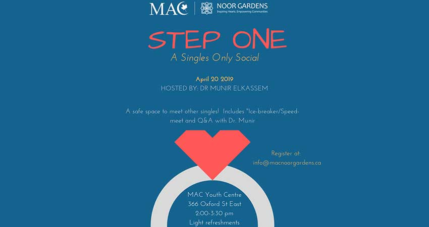 MAC-Noor Gardens Step One Singles Only Social