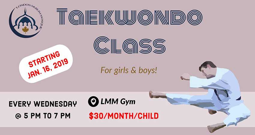 London Muslim Mosque Taekwondo for Girls & Boys