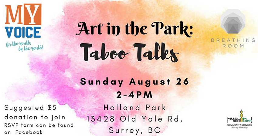 MY Voice and Breathing Room Art Therapy Workshop: Taboo Talks