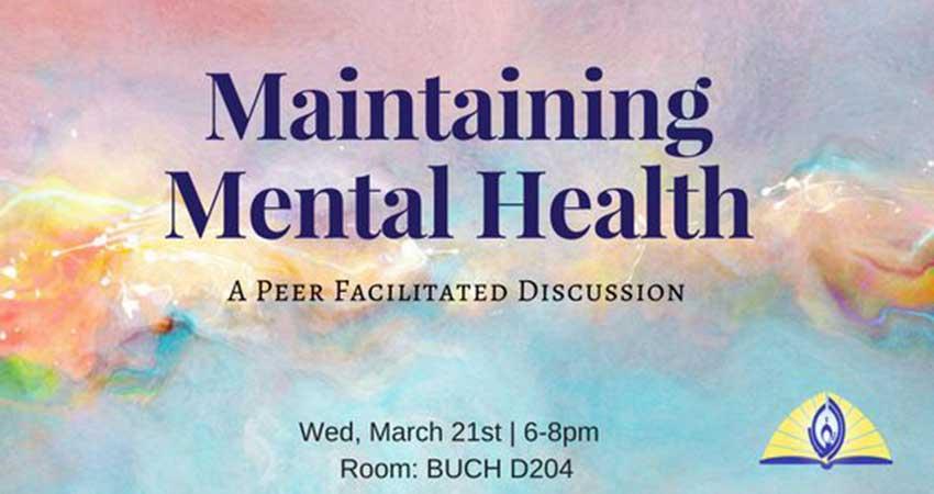 TMA UBC Maintaining Mental Health