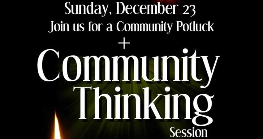 Ummah Masjid And Community Center Community Potluck and Community Thinking Session
