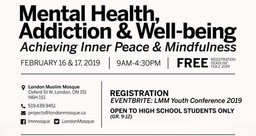 London Muslim Mosque Youth Conference: Mental Health, Addiction, and Well-Being