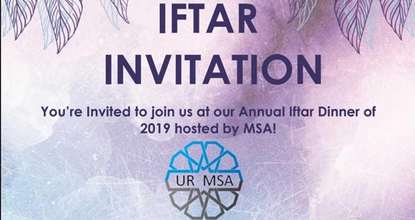 University of Regina MSA 2019 Annual Iftar
