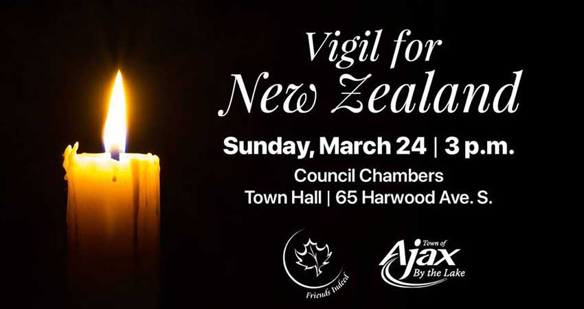 Vigil for New Zealand