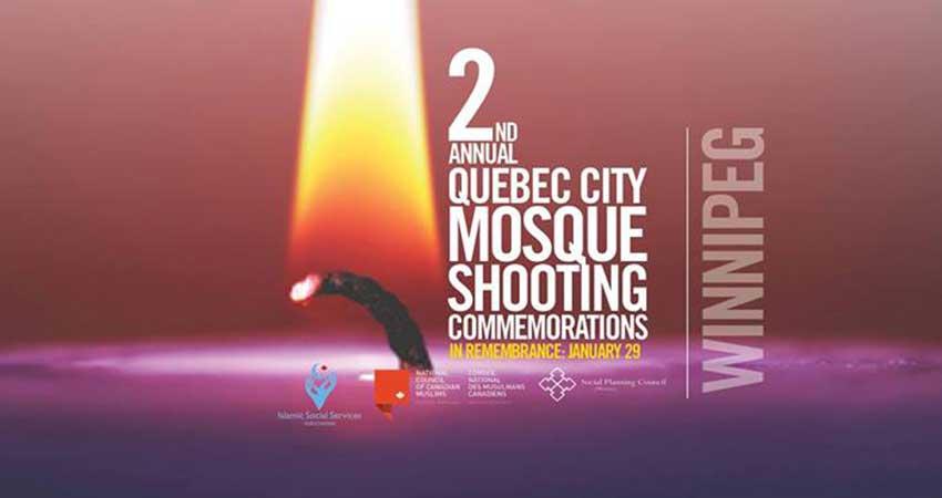 Winnipeg Annual Quebec City Mosque Shooting Commemoration