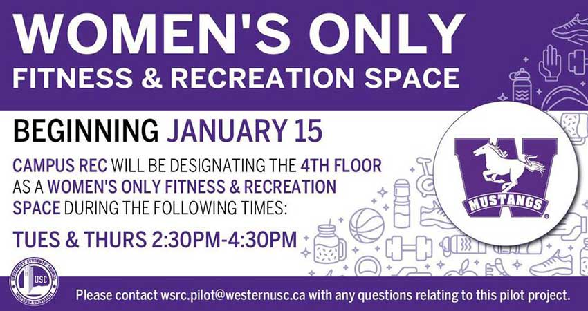 Women's Only Fitness and Recreation Space