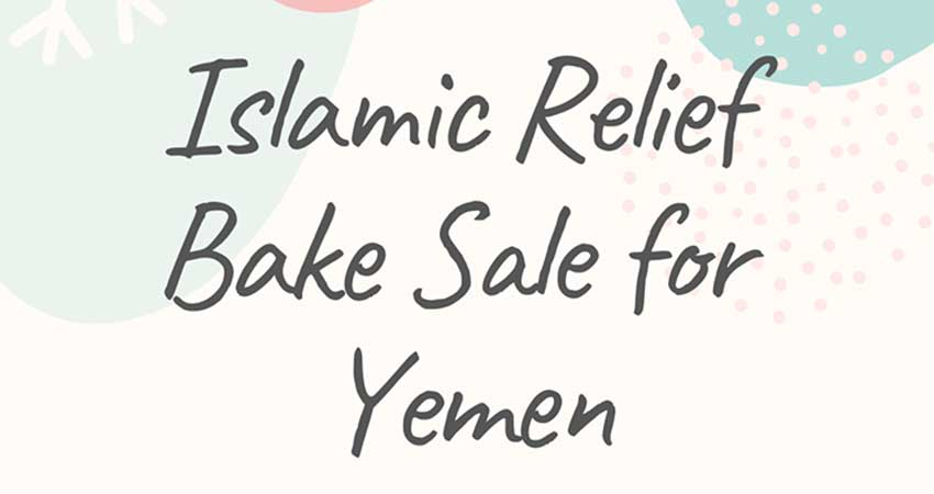 Islamic Relief Canada Bake Sale for Yemen
