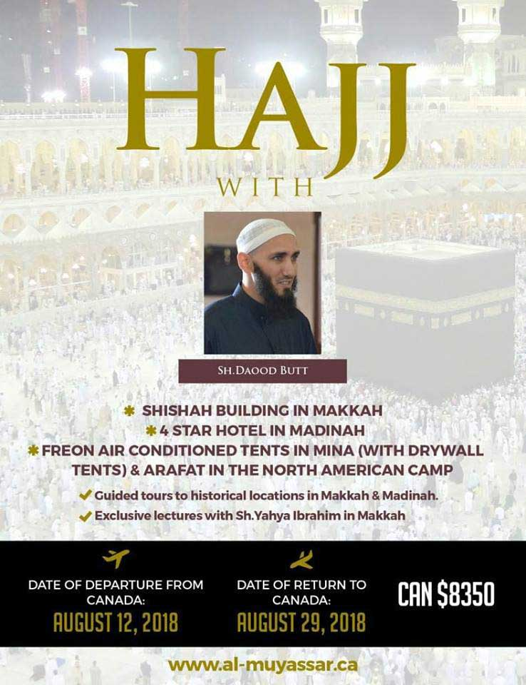 Al Muyassar Hajj 2018 Package
