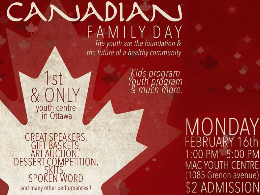 MAC Family Day Will Celebrate Youth and Canadian Identity