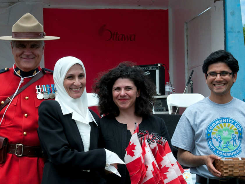 New Canadian Citizens at last year's Community Cup