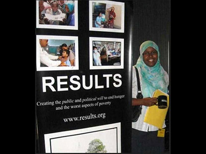 Sadia Jama is a volunteer with RESULTS Canada