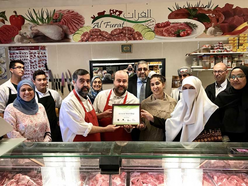 Al-Furat Meat Shop was awarded a Certificate of Appreciation from the Children's Aid Society of Ottawa