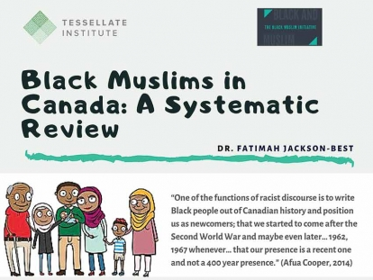 "Image from the Infographic that accompanies ""Black Muslims in Canada: A Systematic Review of Published and Unpublished Literature""."