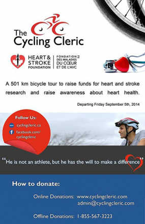 Cycling Cleric Imam Jebara Riding to Quebec City for Heart Health