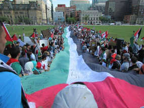 The Story Behind That Huge Palestinian Flag at Ottawa's Gaza Demonstration
