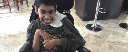 AbdAllah Khan is 19 years old. He has diagnosis of Cerebral Palsy, Seizure Disorder, very low immune system and Global Developmental Delay since birth, Scoliosis and GERD since 9 years of age.
