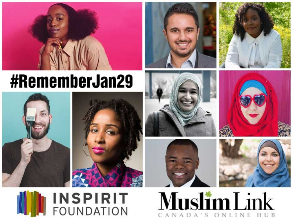 Muslim Link partnered with Inspirit Foundation to commemorate the first anniversary of the Quebec Mosque attack