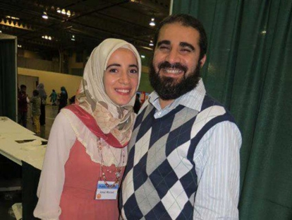 Egyptian Canadian engineer Yasser Albaz with his daughter writer Amal Albaz.