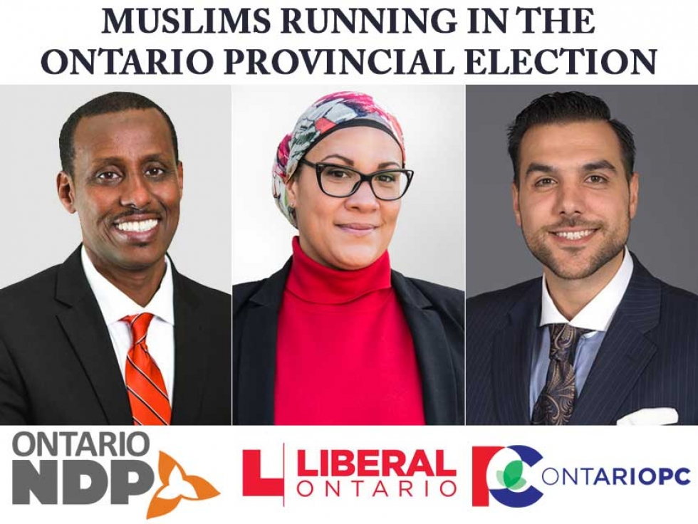 Muslims are running in the three major Provincial Political Parties for the 2018 Ontario election