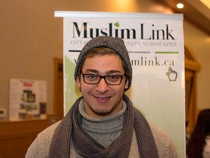 Mohamed Koussey at the Arabian Canadian Bazaar on January 18 2015.