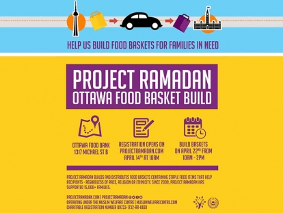 Volunteer with Project Ramadan and the Muslim Welfare Centre at the Ottawa Food Bank This Sunday